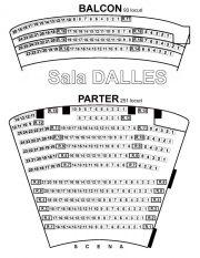 Sala Dalles - schema amplasare locuri