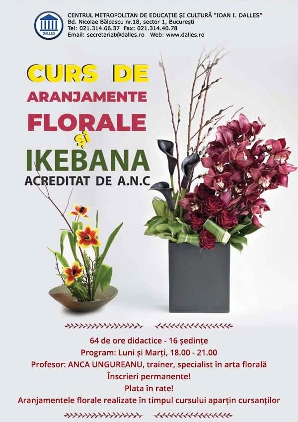 Curs de Aranjamente florale şi Ikebana acreditat de A.N.C.