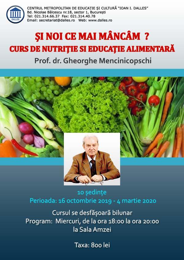Curs de Nutriție și Educație Alimentară