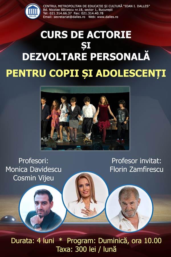 Cursuri de actorie și dezvoltare personală pentru copii și adolescenți