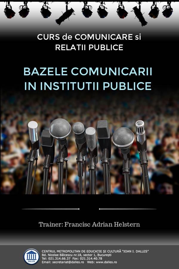 """Curs de comunicare și relații publice - """"Bazele comunicării în instituții publice"""""""