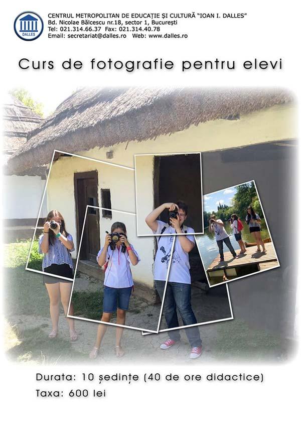 Curs de fotografie pentru elevi (10 ani+) - începători
